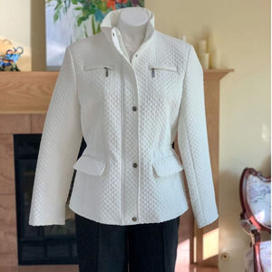Gallery Quilted Summer Peplum Jacket L